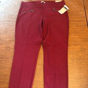NWT Skinny ankle red pants